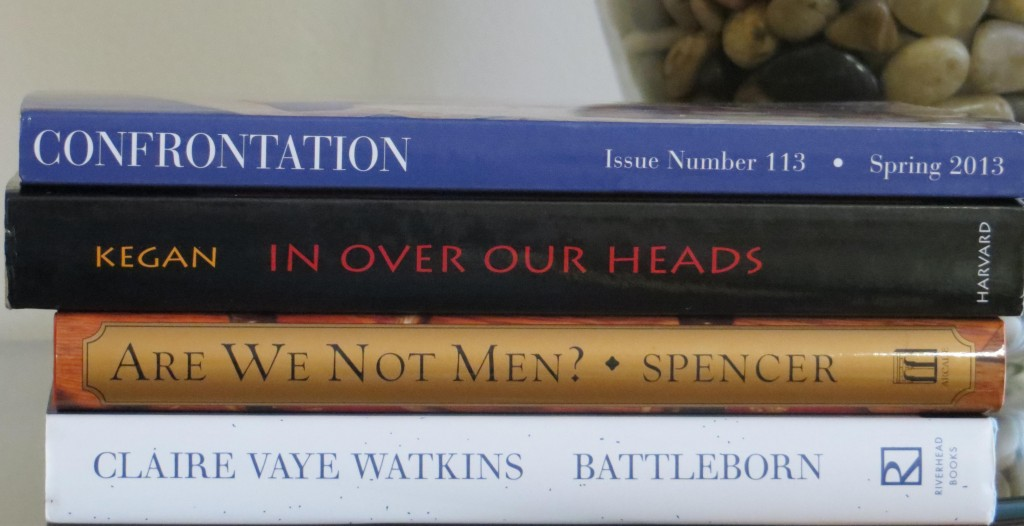 Spine poetry September